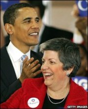 Barack Obama and Janet Napolitano -- Getty Images