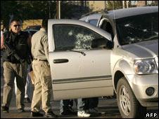 Drug-related shooting in Juarez, Mexico. 12 November