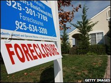 A US home that has been repossessed