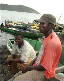 Fisherman on Lake Victoria