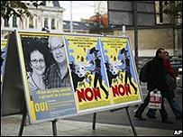 Cartel a favor del programa de heroina en Ginebra