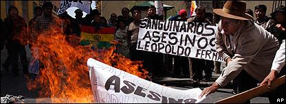 Manifestaciones en Pando