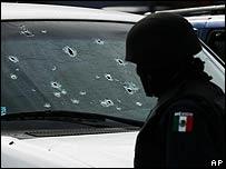 Escena de homicidio en Tijuana