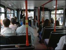 Generic bus passengers