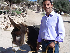 Aleem Maqbool and his donkey