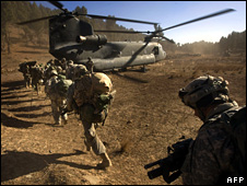US soldiers in Khost province, Afghanistan (15 November 2008)