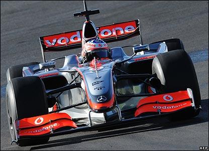 Lacking: McLarens downforce-free 2009 car