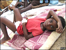 Cholera victim in Zimbabwe