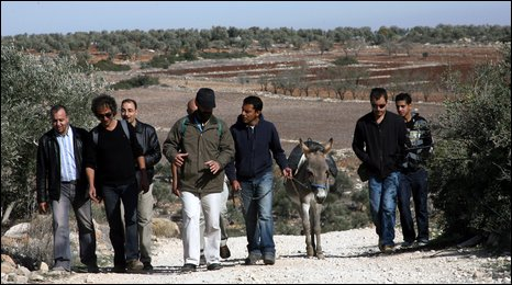 Aleem Maqbool with friends and donkey