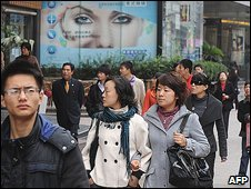 Shoppers in Chinese city of Shanghai