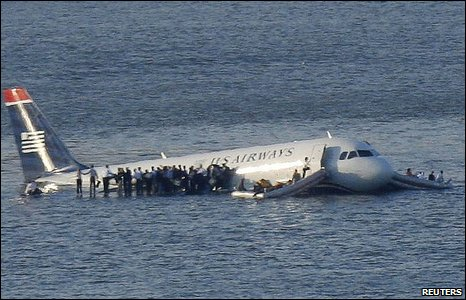 Plane in water