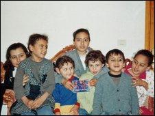 Dr Izeldeen Abuelaish's children photographed in 2001