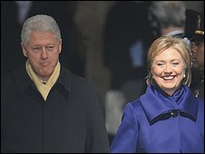 Former US President Bill Clinton and Hillary Clinton