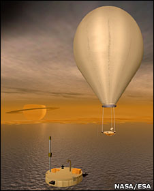 would provide balloon and hydrocarbon lake lander (above) Orbiter to tour Saturn system before entering Titan orbit Tour allows further studies of Enceladus and its plumes Will need to raise the high scientific bar set by Cassini  (NASA/ESA)
