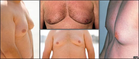 Composite image of men's chests