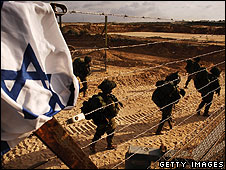 Israeli reservists enter Gaza, 12 Jan 2008