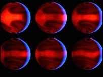 Simulación atmosférica del exoplaneta HD8606b (Imagen: NASA/JPL/Universidad de California, S.C.)