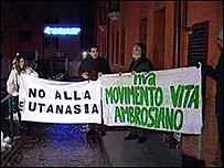Toda Italia está movilizada contra el asesinato de Eluana