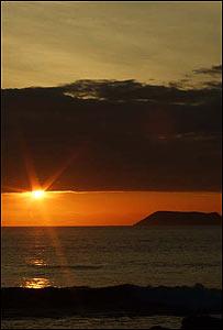 Atardecer en las islas Galápagos.