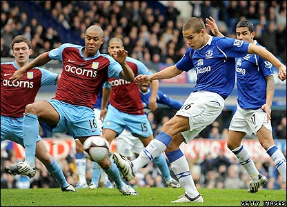Young Jack Rodwell sets Everton on the way to a stunning victory.