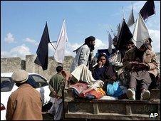 Taleban supporters in Swat, 21 February 2009
