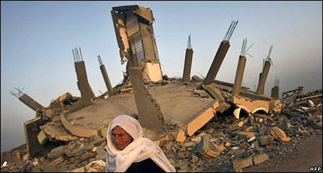 Destroyed house in Jabaliya, 15 Feb 2009