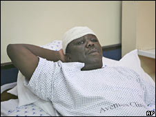 Morgan Tsvangirai in Harare's hospital. Photo: 7 March 2009