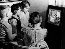 children watching TV, BBC