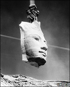 Moving the statues at Abu Simbel