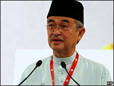 Outgoing Malaysian Prime Minister Abdullah Badawi (26 March)