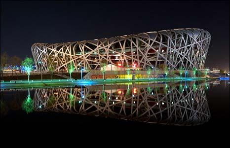 Bird's Nest stadium, Beijing - photo Earth Hour