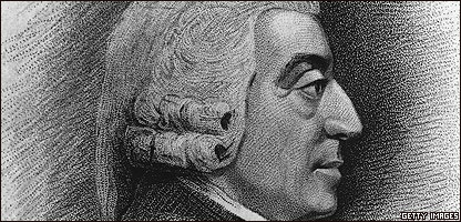 Dibujo de Adam Smith, hecho por J. Jacks y C. Picart.