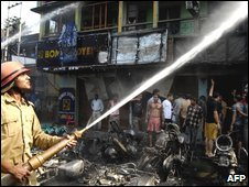 Bomb scene in Guwahati