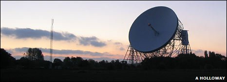 The Lovell telescope at Jodrell Bank dominates the Cheshire landscape
