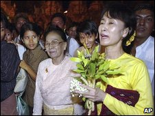 Ms Suu Kyi in May 2002