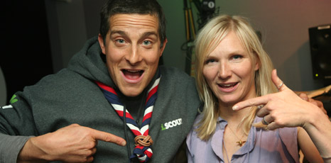 Bear Grylls and Jo Whiley