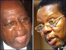 John Tembo (left) and Bingu Wa Mutharika (right)