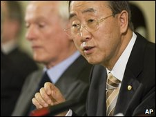 UN Secretary General Ban Ki-moon speaks in Geneva (19/05/2009)