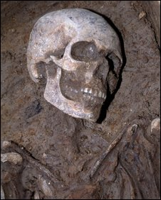 Skeleton from the Great Plague discovered in Spitalfields Market