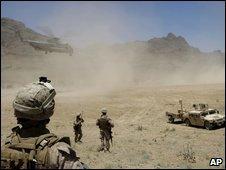 US marines in Farah province - photo 11 June