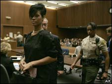 Rihanna attended the court hearing on Monday