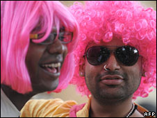 Participants in a gay march in India