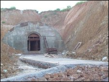Tunnel construction in Burma
