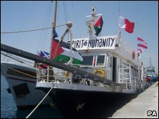 Gaza activists boat, named Spirit of Humanity