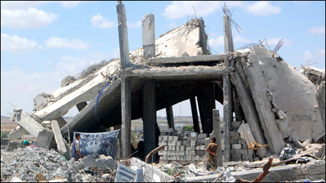Destroyed house in Gaza
