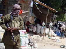 An al-Shabab fighter in Mogadishu, file image