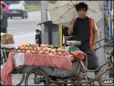 Fruit seller in China