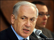 Benjamin Netanyahu, pictured on 12 July 2009