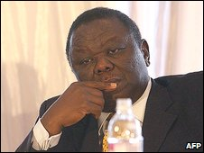 Prime Minister Morgan Tsvangirai attends the national dedication ceremony to promote peace and national healing, reconciliation and integration in Harare on July 24, 2009