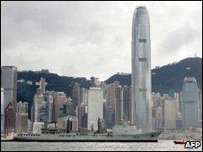 French navy ship visiting Hong Kong, 2007